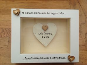 Shabby Personalised Chic Box Frame Gift For Bride On Her Wedding From Bridesmaid